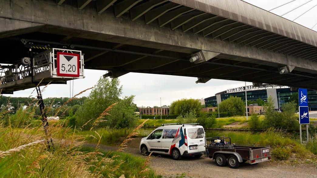 Inspection bridge R4 Ghent